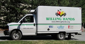 side view of Willing Hands delivery truck