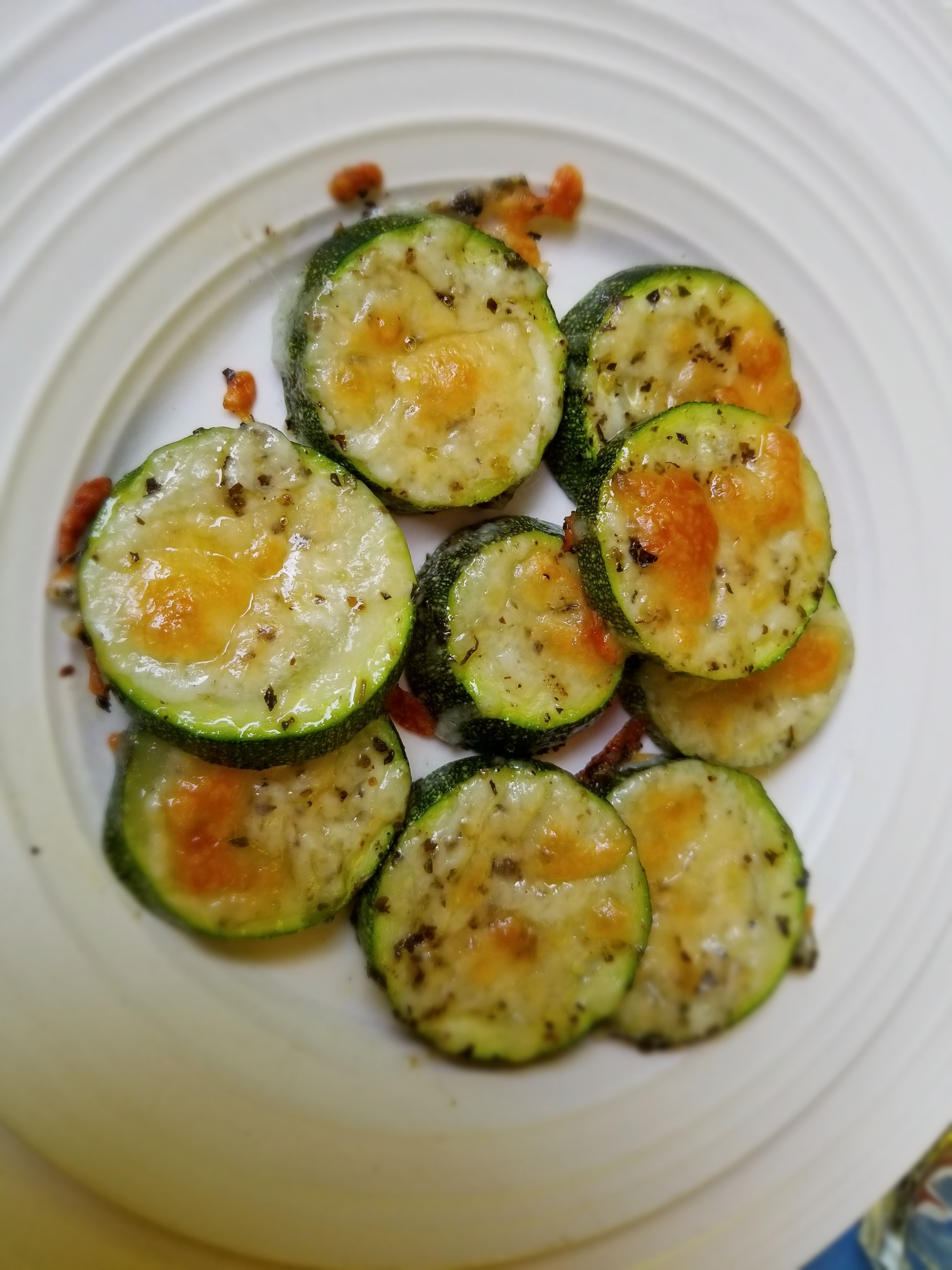 Cheesy Zucchini Rounds